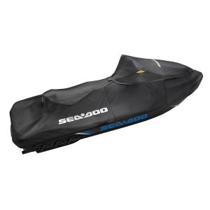 Seadoo Cover RXT, RXT-X, GTX, WAKE PRO 2018 & + • Weather-resistant trailering cover protects your watercraft during storage and transportation. • Made of heavy-duty UV-resistant solution-dyed polyester canvas. • Soft inner lining prevents panel abrasion. • Yellow fabric indicates handle insertion points. • Compatibility: RXT, RXT-X, GTX, WAKE PRO (2018 and up) Standard on GTX and WAKE PRO (2018 and up)